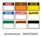 blank warning signs. set of... | Shutterstock .eps vector #584310694