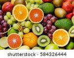 Arrangement Ripe Fruits And...