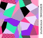vector seamless creative... | Shutterstock .eps vector #584326828