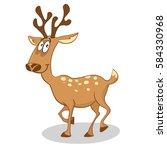 cute funny deer | Shutterstock .eps vector #584330968
