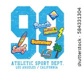 Athletic Sport Surf Typography...