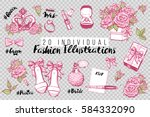 wedding fashion patches and... | Shutterstock .eps vector #584332090