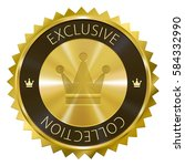 exclusive collection gold label ... | Shutterstock .eps vector #584332990