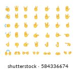 set of hand emoticon vector...