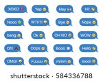 set of sms bubbles messages... | Shutterstock .eps vector #584336788