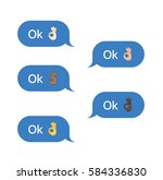 set of sms bubbles messages... | Shutterstock .eps vector #584336830