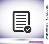 pictograph of checklist .vector ... | Shutterstock .eps vector #584338183