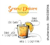 hand drawn illustration of... | Shutterstock .eps vector #584338546