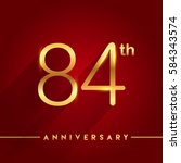 celebrating of 84 years... | Shutterstock .eps vector #584343574
