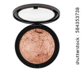 brown bronzer  powder  isolated ... | Shutterstock . vector #584353738