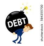 vector stock of a businessman...   Shutterstock .eps vector #584355700