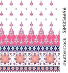 floral seamless pattern. ethnic ... | Shutterstock .eps vector #584356696