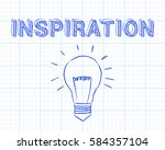 hand drawn inspiration sign and ... | Shutterstock .eps vector #584357104