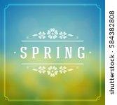 spring vector typographic...   Shutterstock .eps vector #584382808