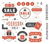 sale labels and tags design... | Shutterstock .eps vector #584385034
