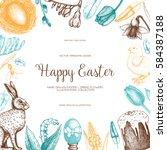 vector card or invitation...   Shutterstock .eps vector #584387188
