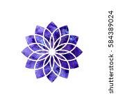 sahasrara chakra. sacred... | Shutterstock .eps vector #584389024