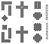 celtic style endless knot... | Shutterstock .eps vector #584392558