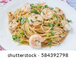 Spaghetti With Shrimp And...