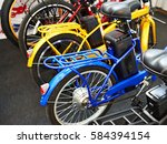 Electric Bicycles In Sport Shop