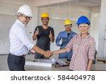 team sucesse and handshack    Shutterstock . vector #584404978
