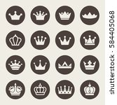 crown design vector icon set | Shutterstock .eps vector #584405068