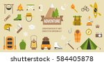 adventure pictogram of... | Shutterstock .eps vector #584405878