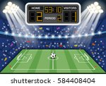 soccer stadium with flat icons... | Shutterstock .eps vector #584408404