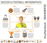 soccer infographics with two... | Shutterstock .eps vector #584408950