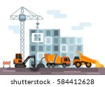 construction site with... | Shutterstock .eps vector #584412628