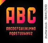 vector square alphabet simple... | Shutterstock .eps vector #584417050