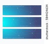 modern set of vector banners.... | Shutterstock .eps vector #584424634