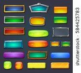 buttons set  form designed game ... | Shutterstock . vector #584425783