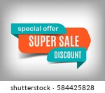 super sale banner  discount tag ...