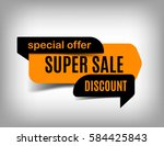 super sale banner  discount tag ... | Shutterstock .eps vector #584425843