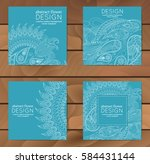 vector set of business cards... | Shutterstock .eps vector #584431144
