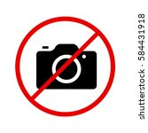 Camera Icon In Prohibiting Red...