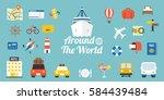 travel around the world... | Shutterstock .eps vector #584439484