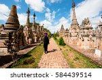 taung gyi myanmar   october... | Shutterstock . vector #584439514