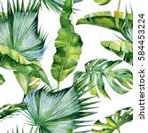 seamless watercolor...   Shutterstock . vector #584453224