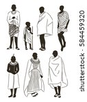 maasai couple african people | Shutterstock .eps vector #584459320