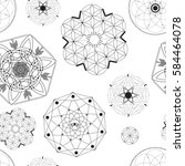 sacred geometry seamless pattern | Shutterstock .eps vector #584464078