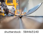 asian worker in factory at... | Shutterstock . vector #584465140