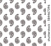 seamless paisley pattern | Shutterstock .eps vector #584467396