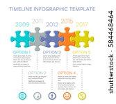 modern timeline infographic... | Shutterstock .eps vector #584468464