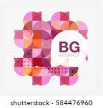 vector modern elegant circle... | Shutterstock .eps vector #584476960