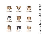 illustration of cute dog logo... | Shutterstock .eps vector #584480236