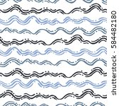 seamless pattern with waves.... | Shutterstock .eps vector #584482180