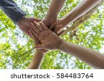 team work concept. business... | Shutterstock . vector #584483764