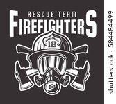 Firefighters Vector Emblem ...